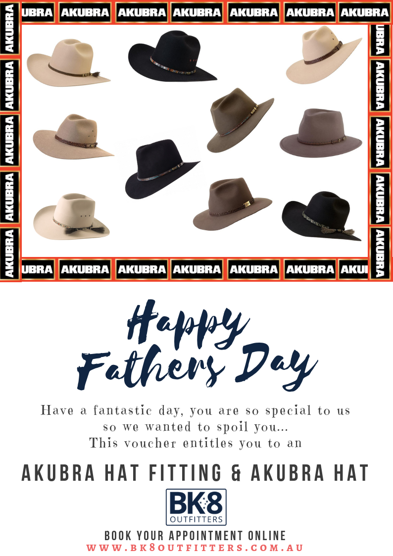 BK8 Outfitters | Gift Card | Akubra | Fathers Day - BK8 Outfitters Australia