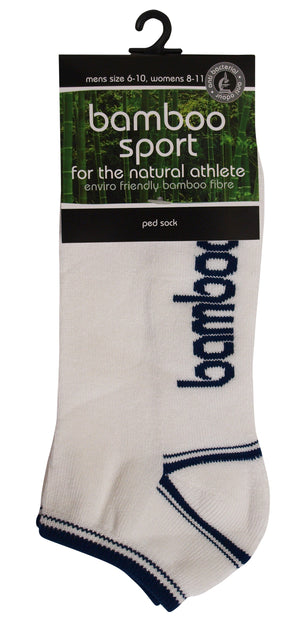 BT | Kids | Socks | Bamboo | Sports Ped | White/Dark Blue | Kids