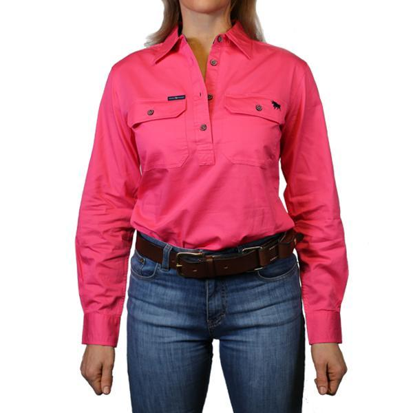 The Pentecost River Half Button Work Shirt Melon - Rogue Country Outfitters