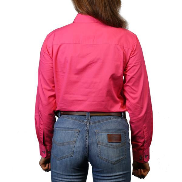 Ringers Western | Womens | Work Shirts | HALF Button | Long Sleeve | Pentecost | Melon - BK8 Outfitters Australia