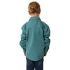 Kids | Work Shirt | HALF Button | Long Sleeve | Ord | Dusty Jade