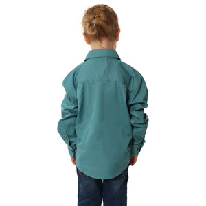 Ringers Western | Kids | Work Shirt | HALF Button | Long Sleeve | Ord | Dusty Jade