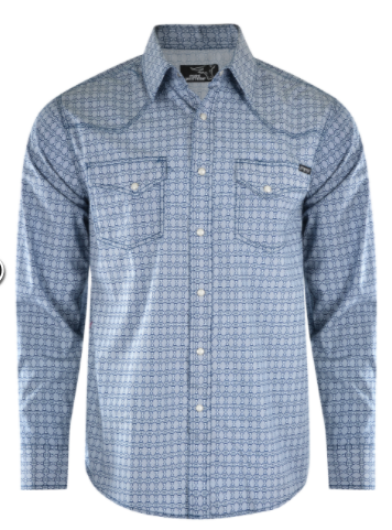 Pure Western | Mens | Shirt | Braxton | Blue