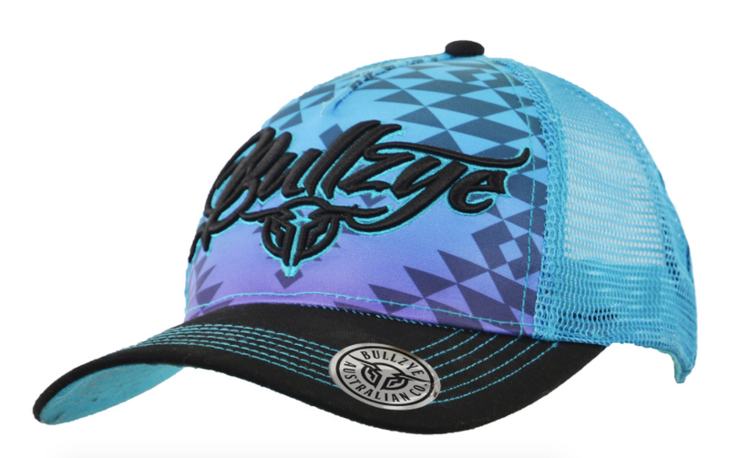 Bullzye | Hats | Cap | Ripple | Black/Aqua