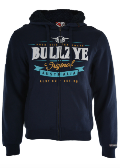 Bullzye | Mens | Zip Up Hoodie | Dylan | Navy