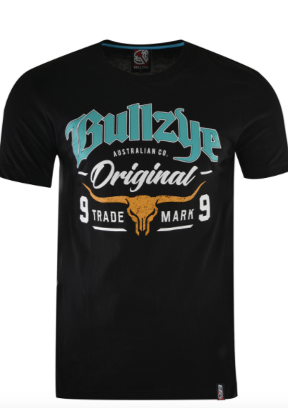 Bullzye | Mens | Tee | Boundary | Black