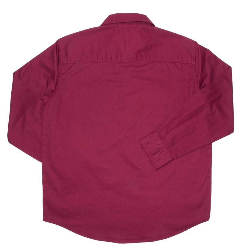 Ringers Western | Kids | Work Shirt | HALF Button | Long Sleeve | Ord | Burgundy - BK8 Outfitters Australia