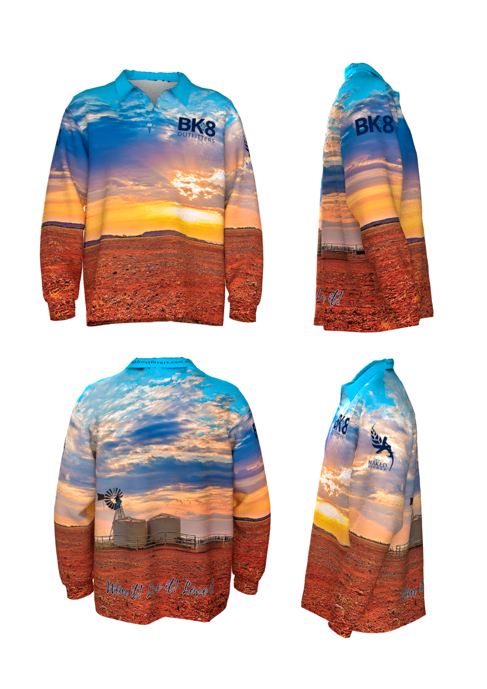 Big Fish | BK8 | Outback Fishing Shirt | ADULTS | Sunset - BK8 Outfitters Australia