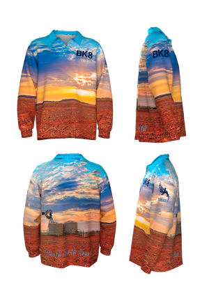 BK8 Outback Fishing Shirt | ADULTS | Sunset - BK8 Outfitters Australia