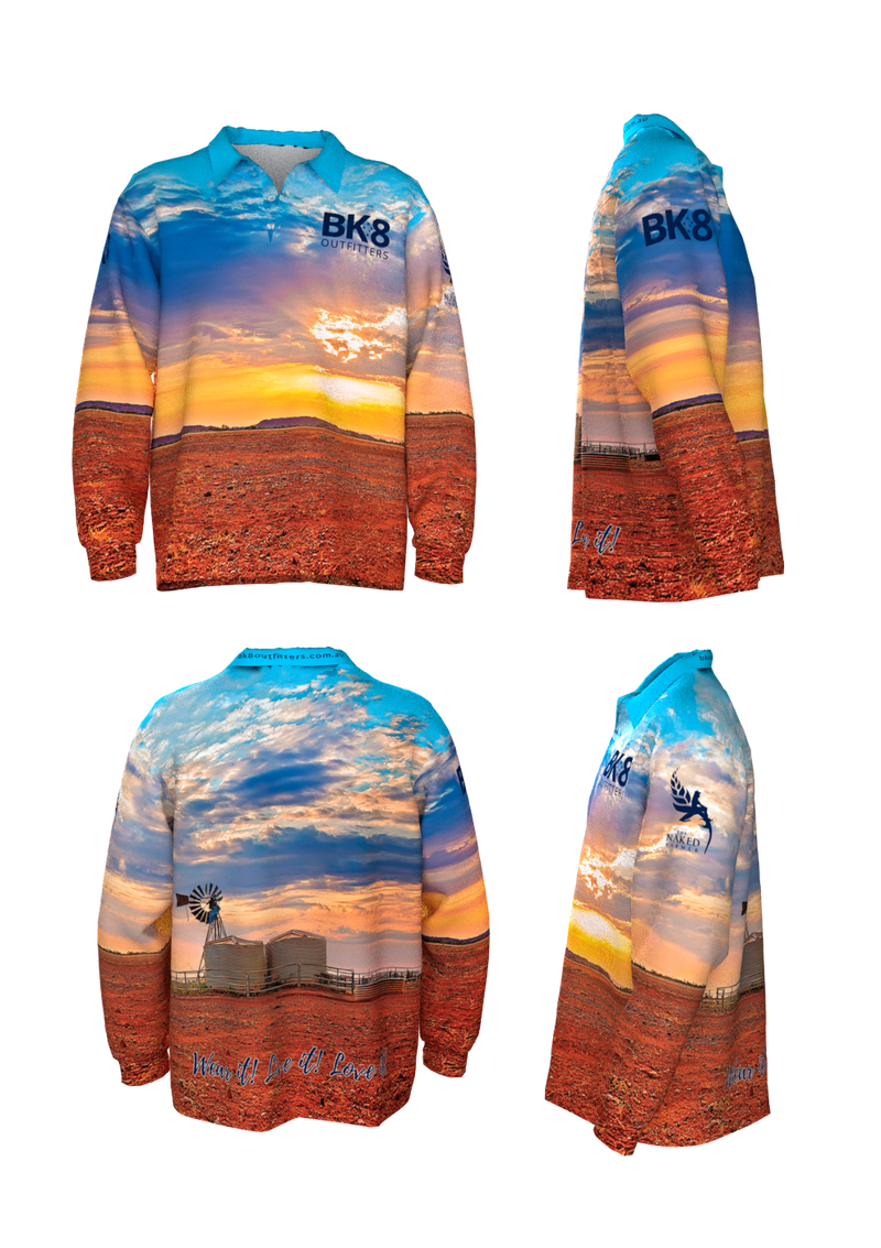 Big Fish | BK8 | Outback Fishing Shirt | KIDS | Sunset - BK8 Outfitters Australia