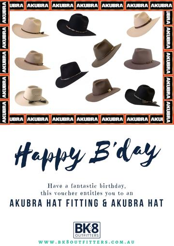 BK8 Outfitters | HW | Gift Card | Akubra | Happy Birthday - BK8 Outfitters Australia
