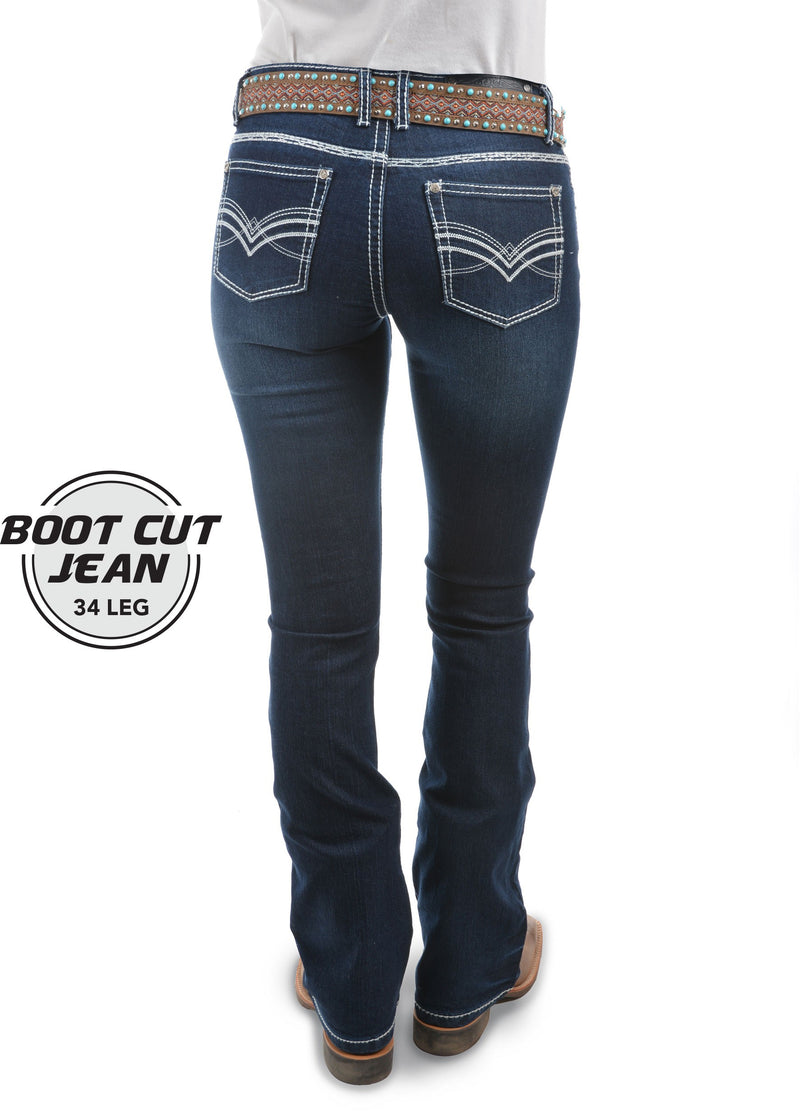 Pure Western | Womens | Jeans | Waist Low | Bootcut | 34