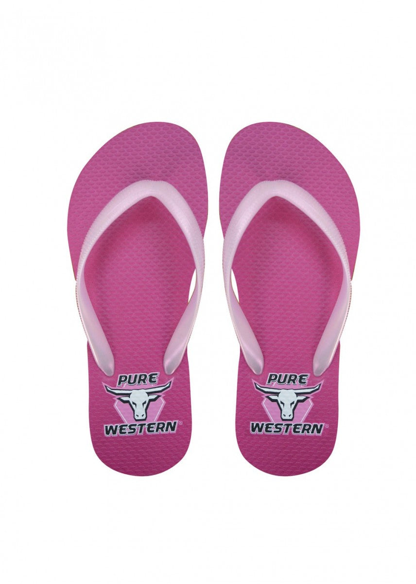 Pure Western | Kids | Thongs | Candy | Fushia | Children - BK8 Outfitters Australia