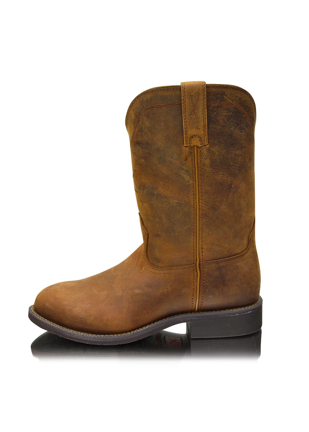 Twisted X | Mens | Boots | Toe Roper | Roper Water Proof | Dark Brown - BK8 Outfitters Australia