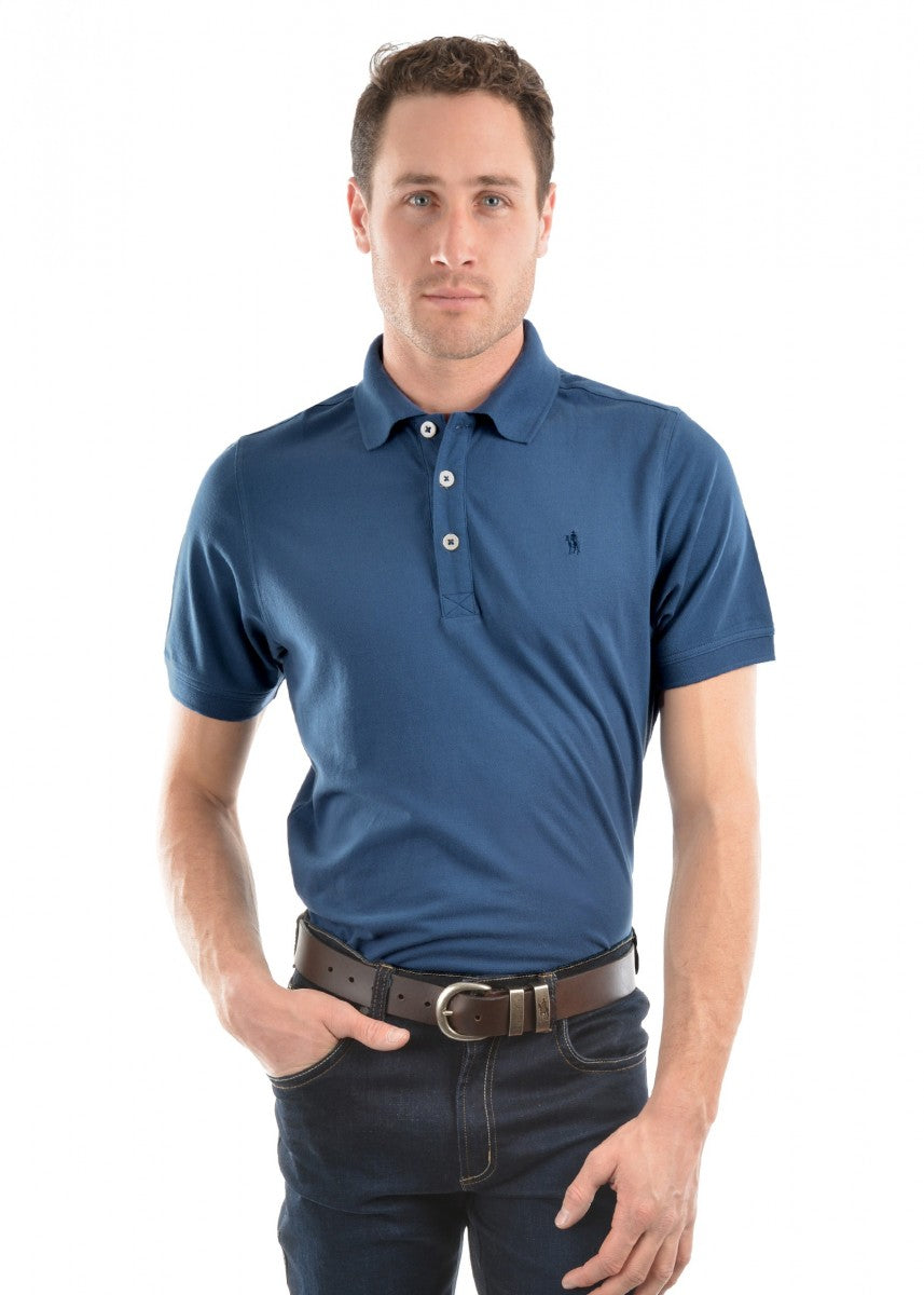 Thomas Cook | Mens | Polo | Blue Steel