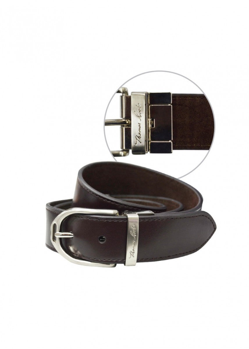 Thomas Cook | Womens | Belt | Stirrup Buckle | Reversible | Dark Brown