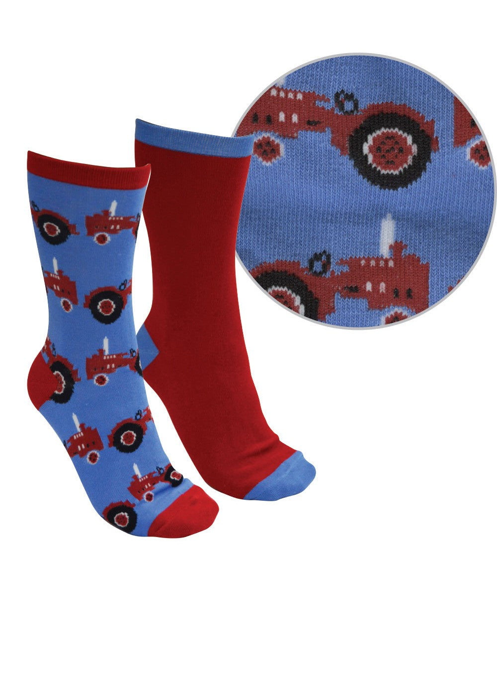 Thomas Cook | Kids | Socks | Farmyard Twin Pack | Blue/Red - BK8 Outfitters Australia