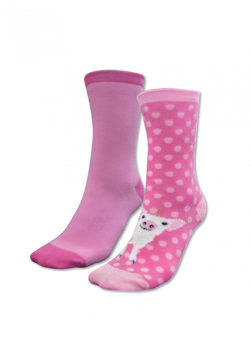 Thomas Cook | Kids | Socks | Homestead Twin Pack | Pink