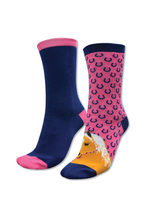 Thomas Cook | Kids | Socks | Homestead Twin Pack | Navy/Pink - BK8 Outfitters Australia