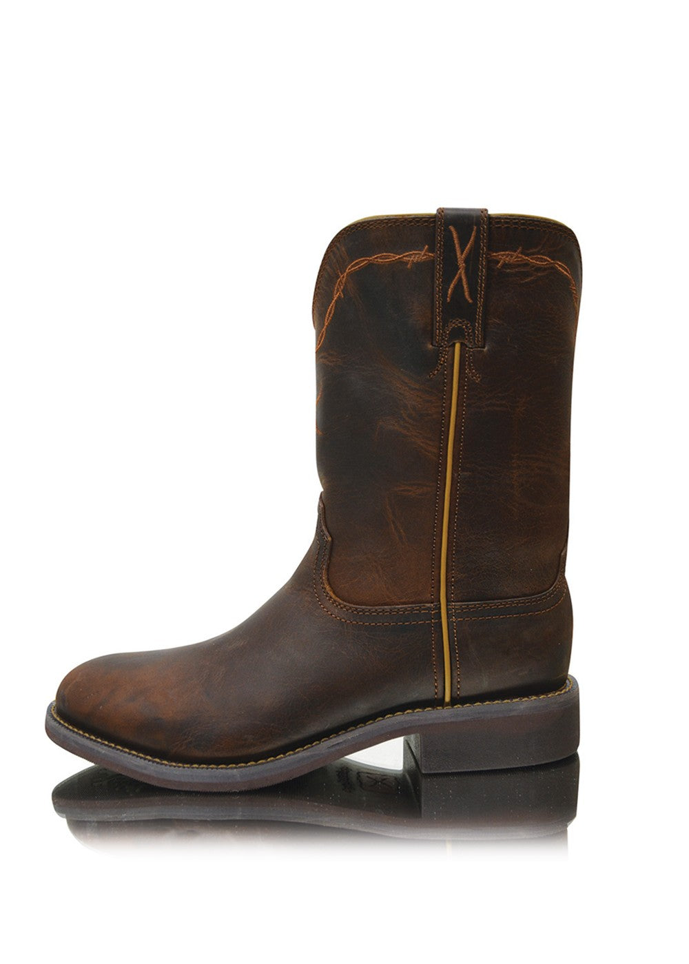 Twisted X | Women | Boots | Toe Roper | Roper Waterproof | Dark Brown - BK8 Outfitters Australia