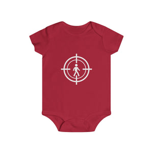 The Art of Hunting Humans - Logo - Infant Rip Snap Tee - Red