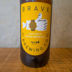 Brave Stay Gold Pacific Wheat 4.5% - Bottle Stop