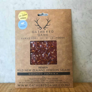 Gathered Game Smoked Paprika Sliced Salami 100g - Bottle Stop