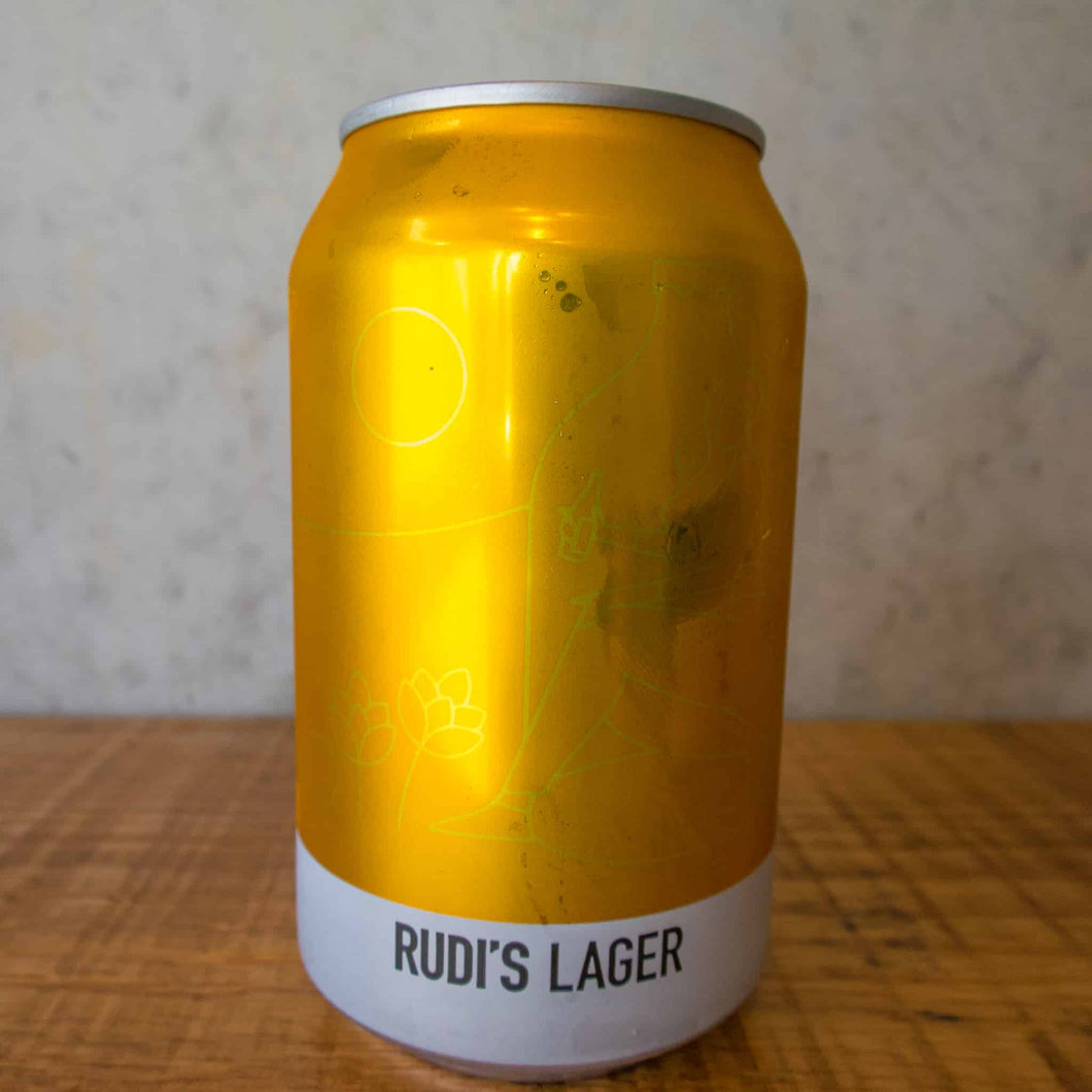 Rudi's Lager 5% 330mL can - Bottle Stop