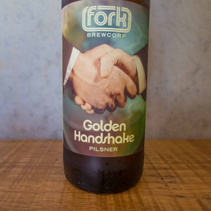 Fork Brewcorp Golden Handshake Pilsner 5.2% - Bottle Stop