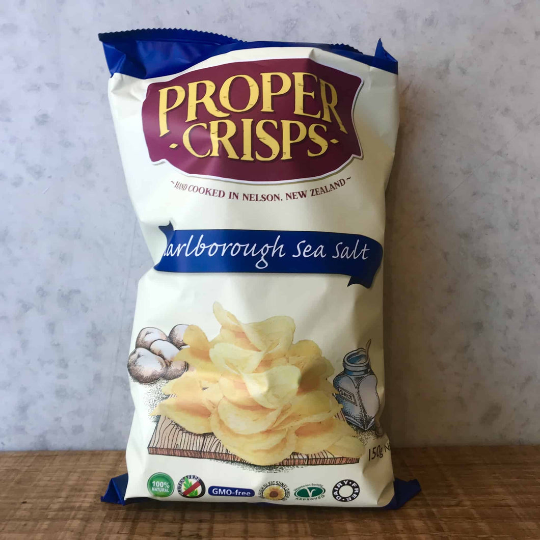 Proper Crisps Marlborough Sea Salt 150g Bag