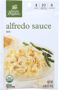 Alfredo Sauce Mix Packet Simply Organic