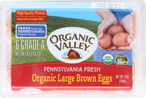 Organic Valley Eggs Grade A Brown Large Organic 0.5Dz