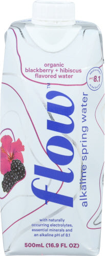 Organic Blackberry and Hibiscus Flow Alkaline Spring Water