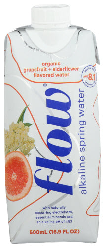 Organic Grapefruit and Elderflower Flow Alkaline Spring Water
