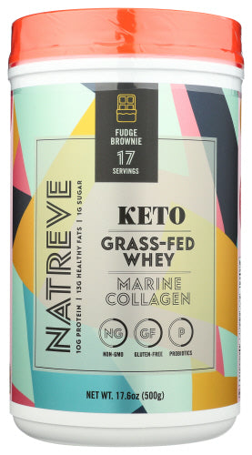 Natreve Keto Collagen Brownie Powder Protein