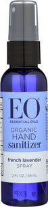 EO essential Oil Organic Hand Sanitizer 2Oz