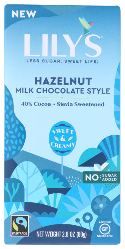 Lilys Hazel Nut Milk Chocolate Bar