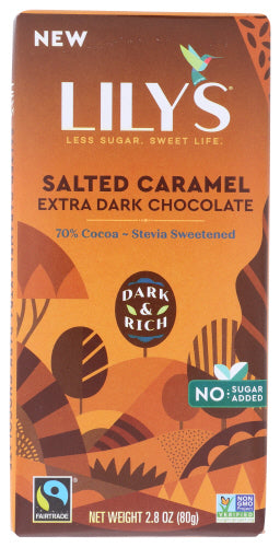Lily's Sweets Salted Caramel Extra Dark Chocolate