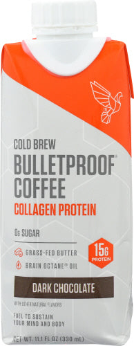 Cold Brew Coffee Dark Chocolate Collagen Bullet Proof