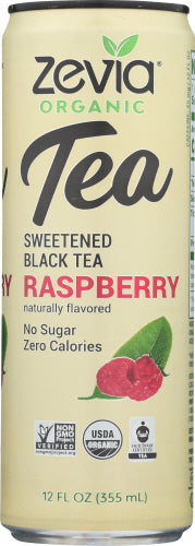 Zevia Organic Tea Raspberry Sweetened Black Tea