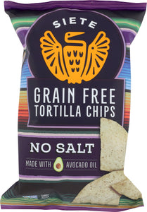 Siete No Salt Tortilla Chips