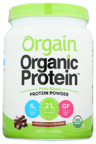 Orgain Protein Powder Chocolate Fudge 1 Lb