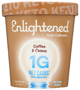 Coffee and Cream Keto Ice Cream Enlightened