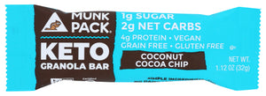 Munk Pack Keto Granola Bar Coconut Cocoa Chip 4 Count