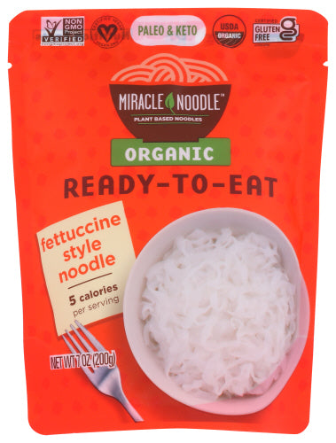 Miracle Noodle Fettuccine Pasta Ready to Eat