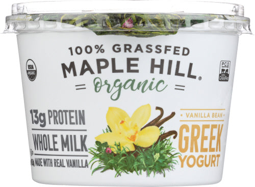 Maple Hill Organic 100% Grass-fed Vanilla Greek Yogurt