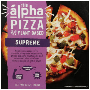Pizza Supreme Alpha Foods 6 Oz