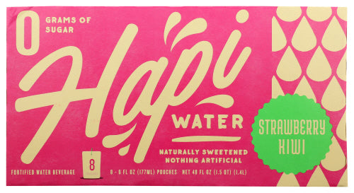 Hapi Drinks Strawberry Kiwi Water 8 Pack