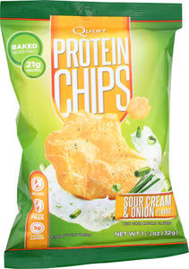 Sour Cream & Onion Protein Chips