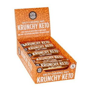 Krunchy Keto Good Good Bar Salty Caramel Nut